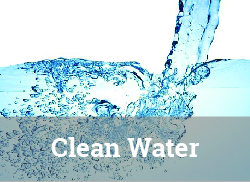 "Image of clean water being poured with ""Clean Water"" label."